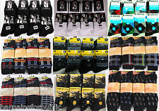 Adults Mens 6 Or 12 Pairs Argyle Check Diamond Suit Golf Cotton Rich Socks 6-11