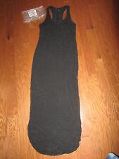 M VICTORIA'S SECRET Dress BLACK MAXI SHIRT TAIL RACERBACK BEACH SUMMER NEW