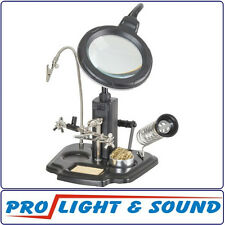PCB Holder With LED Light and Magnifier + 3rd Hand, Solder Iron Stand