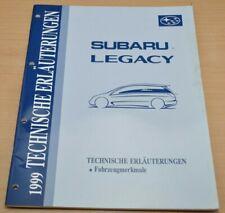 SUBARU Legacy 1999 Reparaturhandbuch Fahrzeugmerkmale Werkstatthandbuch
