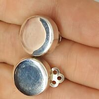 Solid sterling silver 925 clip on earrings  N50 stunning pair