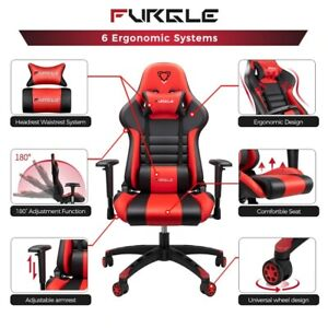 Gaming Chair Ergonomic Racing Video Computer Vibration Seat Adjustable