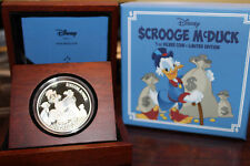 Rare! Walt Disney Uncle Scrooge Limited Edition Silver 999/1000 Coin 1 oz