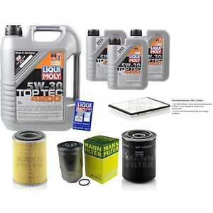 Inspection Kit Filter LIQUI MOLY Oil 8L 5W-30 For Ford Maverick Uds US 2.7 Td I