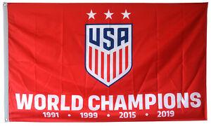 USA Women's  World Cup 4 Time champions Flag Banner 3X5 Feet Decor