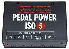 USED Voodoo Lab Pedal Power ISO 5 Guitar Effect Pedal Power Supply!