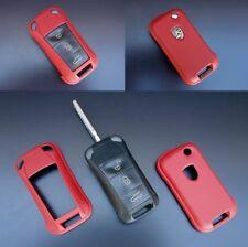 Für Porsche Klapp Schlüssel Cover Key Cover Schlüssel Funk Fernbedienung Rot