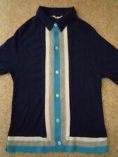 True Vintage SEARS BOYSWEAR Collared Knit Cardigan long sleeve 60S/70s MOD