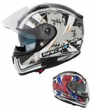 Spada Arc Patriot Full Face Motorcycle Motorbike Helmet Sun Visor ACU Gold