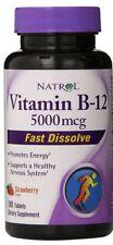 NATROL VITAMIN B12 FAST Dissolve 5000 Mcg Promotes Energy Strawberry 100 Tab
