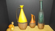 3 Set Three Sexton Metal Wine Themed Bottle Jugs Great Color Condition Wall Hang