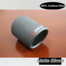 Universal 1 X 89mm Real Carbon Fiber Exhaust muffler tip  Pipe Tip Cover Matte