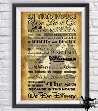We Do Disney Print a4 Home House Rules Wall Art Photo #001