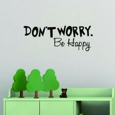 Home Decor Wall Stickers Quote Don't Worry Be Happy Vinyl Kids Room Vinyl Decals