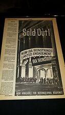 Ira Ironstrings Rare Original 1958 Promo Poster Ad Framed!