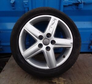 2005-09 AUDI A6 C6 5 STUD 17'' ALLOY WHEEL & TYRE 225/50R17 ( SEE ALL PICTURE )
