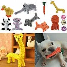 TOUGH DOG PUPPY PET TOY ROPE BUNDLE TEETH CHEW KNOT BALL COTTON ROPE TOYS HOT