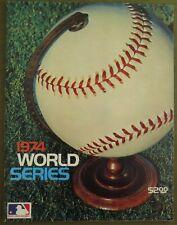 Vintage 1974 World Series Program