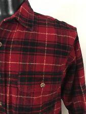 Vintage Field & Stream Red Plaid Heavy Lumberjack SHIRT Mens M  Medium