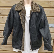 Vintage Dark Brown Lightweight Sheepskin B3 Leather Flying / Bomber Jacket - M