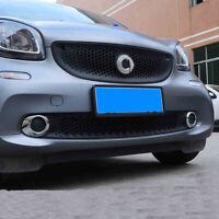 2 ABS Chrom Nebelscheinwerfer Ringe Rahmen für  Smart Fortwo Forfour 453