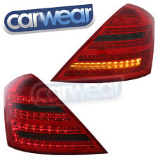 MERCEDES BENZ W221 07-09 SMOKE RED LED TAIL LIGHTS S350 S500 S63 S-CLASS DEPO