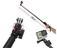 98cm Extendable Telescopic Monopod Selfie Pole Handheld Stick for GoPro Hero 4 3