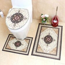 High Quality Crystal Velvet Bath Mat Toilet Rugs European Style Mats 3 Pcs / Set