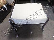 Frontgate French Quarter Orleans Ottoman Footstool Frame & Cushion Leo Linen