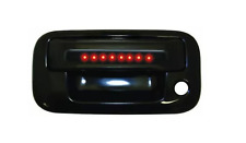 IPCW FLR04BT, Black Tailgate Handle W/ Red LED & Smoke Lens for F150/ Explorer.
