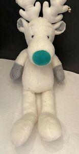 Snobell White Christmas Reindeer Plush Animal Jingle Bells 16 inch Applause