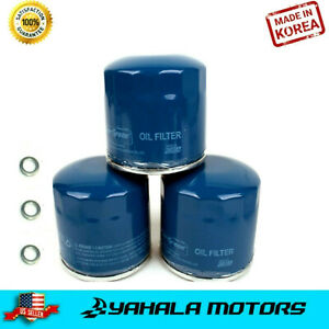 3-PCS Engine Oil Filter for Honda & Acura w/Washers ⭐⭐⭐⭐⭐