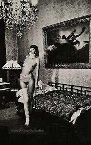 1979 Original HELMUT NEWTON Female Broke Leg Nude Fashion Large Photo Lithograph