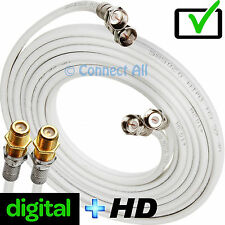 5M SKY PLUS HD/Q DIGITAL TV BOX WHITE EXTENSION CABLE 2 DISH SHOTGUN TWIN LEAD