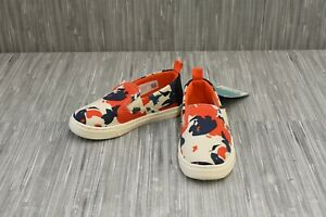 **Toms Tiny Luca Koi Fish Print Casual Slip On Shoe, Toddler Size 10, Multicolor