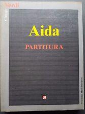 Giuseppe Verdi Aida Partitura K1001