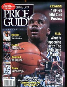 SCD Sports Card Price Guide December 1994 Shaquille O'Neal jhscd