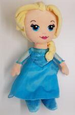 peluche doudou poupée  La reine des neiges Elsa 30 cm Disney robe bleu blonde