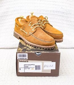 Timberland X Engineered Garments Brown Suede Deck Boat Shoes 3-eye Lug UK 8.5 43