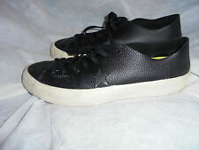 CONVERSE MEN'S BLACK LEATHER LACE UP TRAINERS/SNEAKERS SIZE UK 8 EU 41.5 US 10