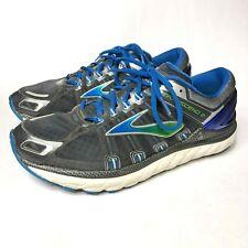 Brooks Transcend 2 Men's Size 9.5 Athletic Running Shoes Blue / Green