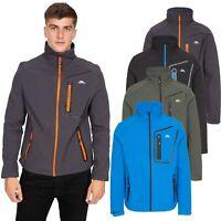 Trespass Mens Softshell Jacket Water Resistant Windproof Outdoor Coat Hotham