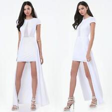 BEBE WHITE MAXI SKIRT OVERLAY DRESS NEW NWT $149 XSMALL XS