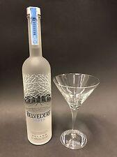 Belvedere Vodka Set 0,7l Flasche + 1 Belvedere Martini Glas 40%Vol. NEU OVP