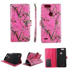 CASE ZTE BLADE Z MAX PRO 2 WALLET COVER FOLIO LEATHER ID CARD HOLDER CAMO MOZY