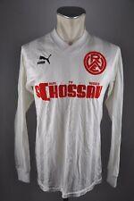 Rot-Weiß Essen Trikot 80er Puma RW Gr. L 1988-1989 #6 langarm Home Schossau