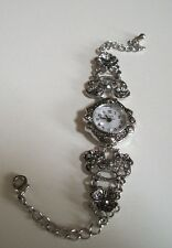 Vintage Look Bracelet Marcasite Antique Special Occasion Fashion Women's Watch