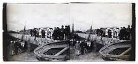 Ritorno Dei Pesca Francia Foto Stereo Placca Da Lente Th4L6n7 Vintage