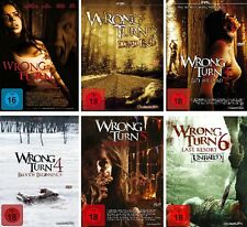 6 DVDs * WRONG TURN - 1-6 IM SET  ~ FSK 18 # NEU OVP +