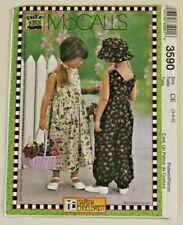 McCall's 3590 Girls Dress, Jumpsuit, Hat sew pattern (3-4-5) Mary Engelbreit New
